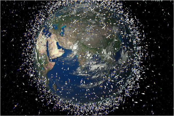 ¿Cuántos satélites hay alrededor de la Tierra?